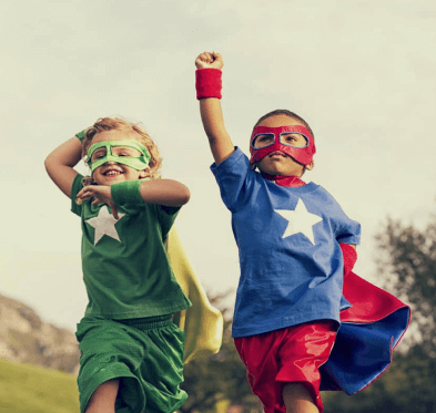 Masked kid superheros