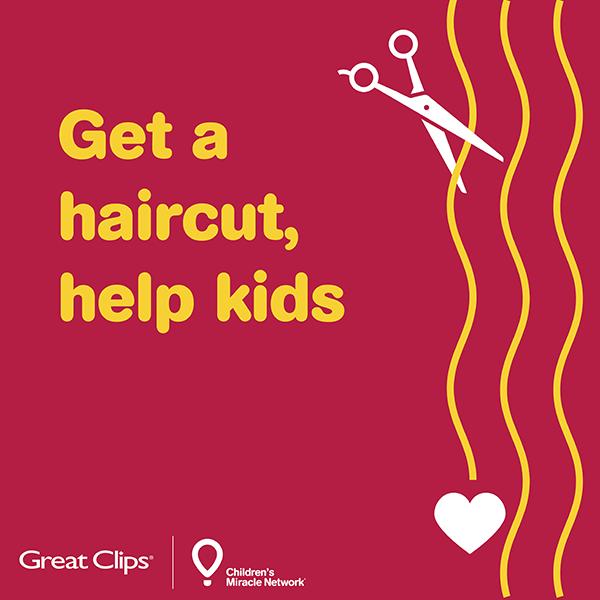Get a haircut, help kids.